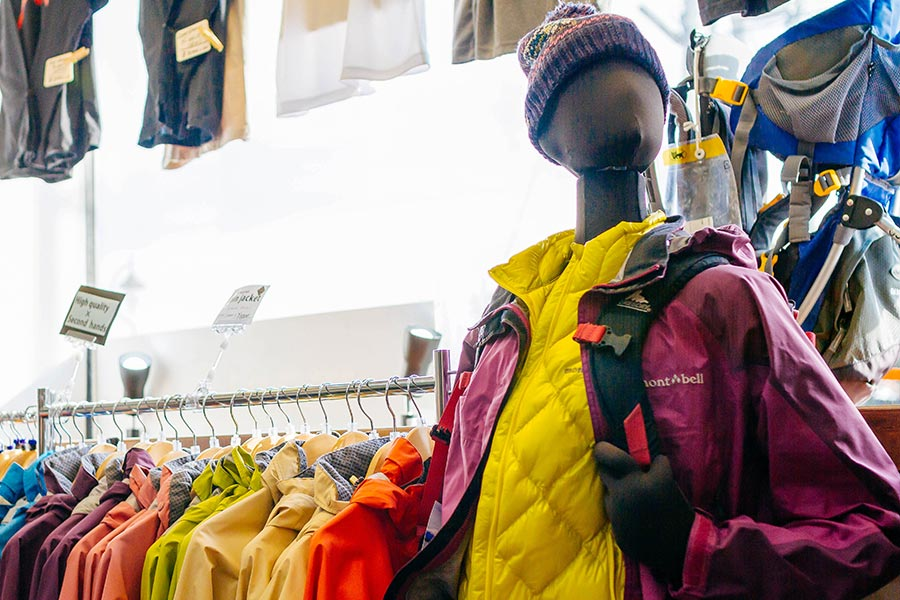 Outdoor clothes and gear rental
