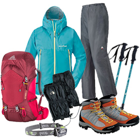 Mt.Fuji Climbing Set (6-Piece) | Outdoor clothes and gear rental