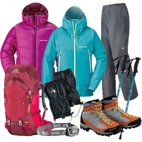 Mt.Fuji Climbing Set (7-Piece) | Outdoor clothes and gear rental