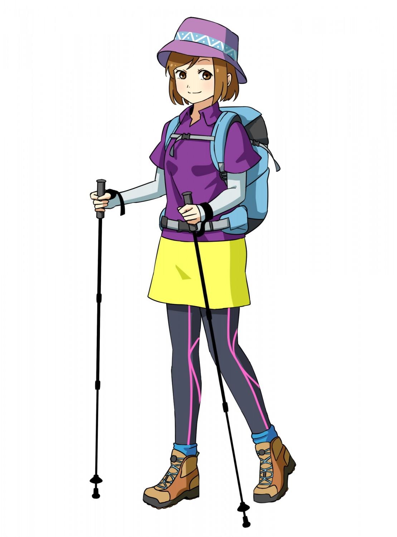 富士登山服装女性(登山開始時)