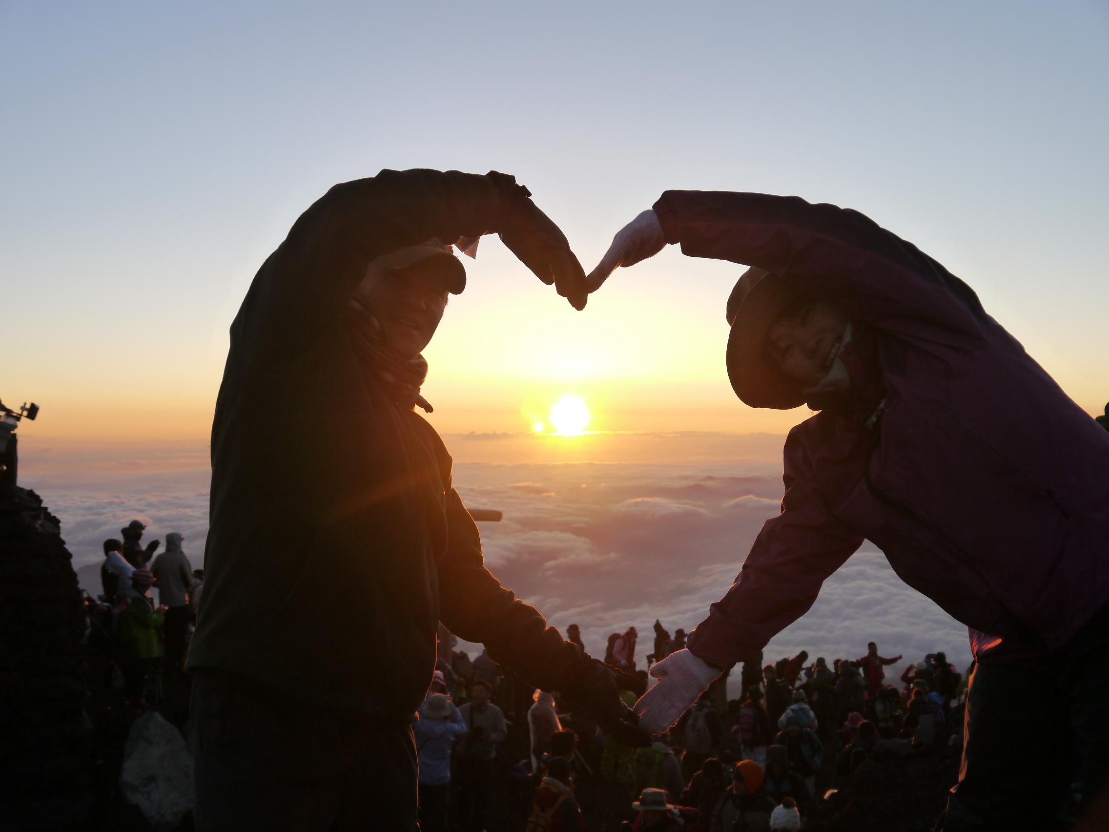 富士山頂より