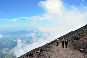 Mt. Fuji climbing,Yoshida Trail for descent