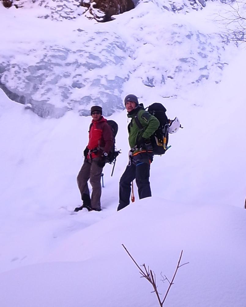 凍てつく三つ峠にて。