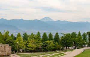 フルーツ公園から見える富士山
