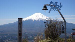 杓子山山頂から眺めた富士山