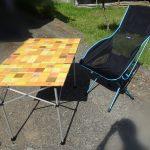[Helinoxサバンナチェア]庭キャンプにおすすめの三銃士![チェア・テーブル・バーナー