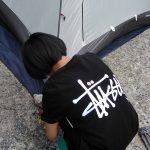 小学生の【おうちキャンプ】子供でもテント建てられました!!