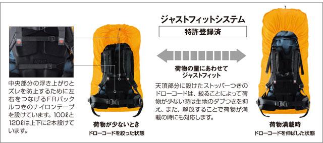 63929dd5d084 montbell/モンベル ジャストフィットパックカバー35 富士登山・登山用品 ...