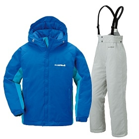 【北海道レンタル】パウダーライトジャケット上下セット Kid's ブルー