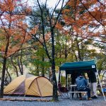 2019年11月中旬 篠沢大滝キャンプ場 アメニティドームL フォールディングテントマ…